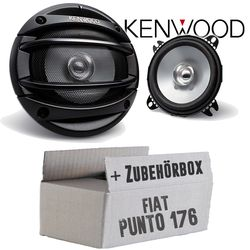 Fiat Punto 1 176 Heck - Kenwood KFC-E1054 - 10cm Lautsprecher Boxen Paar 110Watt 100mm - Einbauset