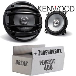Peugeot 406 Break - Kenwood KFC-E1054 - 10cm Lautsprecher Boxen Paar 110Watt 100mm - Einbauset