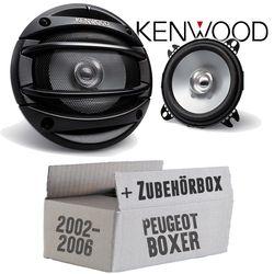Peugeot Boxer 1 - Kenwood KFC-E1054 - 10cm Lautsprecher Boxen Paar 110Watt 100mm - Einbauset