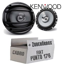 Kenwood KFC-E1754 - 16cm 160mm Lautsprecher Boxen Paar 180Watt - Einbauset für Fiat Punto 1 176 Cabrio Front - JUST SOUND best choice for caraudio