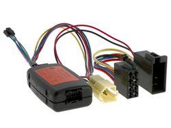 Lenkradfernbedienungsadapter DACIA, NISSAN, RENAULT + MINI ISO gelb mit 5 Kabeln