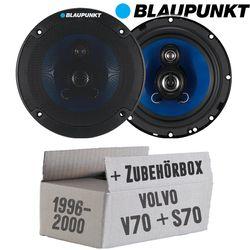 Lautsprecher Boxen Blaupunkt ICx663 - 16cm 3-Wege Auto Einbauzubehör - Einbauset für Volvo V / S 70 Front - JUST SOUND best choice for caraudio