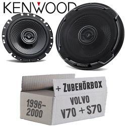Volvo V / S 70 Front - Lautsprecher Boxen Kenwood KFC-PS1796 - 16cm 2-Wege Koax Einbauzubehör - Einbauset