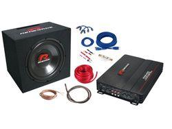 Renegade RBK1100XL - Basspaket 1100 Watt Subwoofer mit 4-Kanal Verstärker und 10 mm2 Verstärker-Installations-Kit