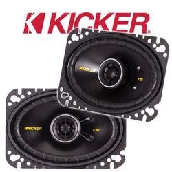 Kicker CSC46 | CSC464 - 4x6 Zoll (10x16cm) Oval Koax Lautsprecher