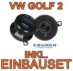 VW Golf 2 Amaturenbrett Crunch DSX 32 Koax Lautsprecher
