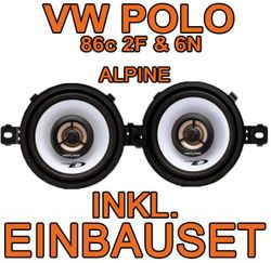 VW Polo Amaturenbrett Alpine Lautsprecher