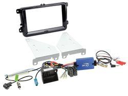 2-DIN Kit VW Klavierlack schwarz | (2-DIN Blende und LFB Adapter inklusive Antennenadapter) | Kit 5