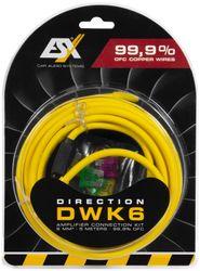 ESX DWK 6 - Kabelkit VOLLKUPFER 6mm² mit Sicherung | 5m