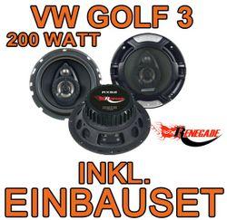 VW Golf 3 - Renegade RX62 3-Wege Koaxe