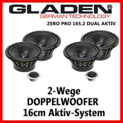 Gladen Audio Zero Pro 165.2 Dual Aktiv - 16cm Doppelkompo-System