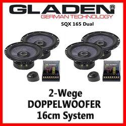 Gladen Audio SQX 165 Dual - 16cm Doppelkompo-System
