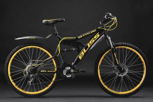 "Mountainbike Fully 26"" Bliss schwarz-gelb – Bild 10"