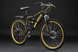 "Mountainbike Fully 26"" Bliss schwarz-gelb – Bild 11"