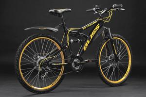 "Mountainbike Fully 26"" Bliss schwarz-gelb – Bild 12"