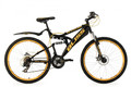 "Mountainbike Fully 26"" Bliss schwarz-gelb"