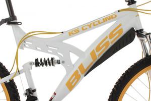 "Mountainbike Fully 26"" Bliss weiss-gelb – Bild 9"