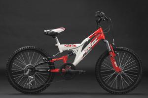 "Mountainbike Fully 20"" Zodiac rot-weiss – Bild 10"