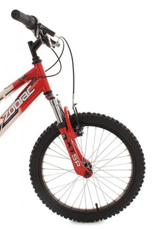 "Mountainbike Fully 20"" Zodiac rot-weiss – Bild 13"