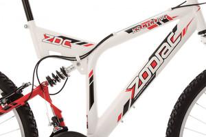"""Mountainbike Fully 26"""" Zodiac weiss – Bild 4"""