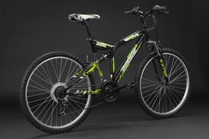 """Mountainbike Fully 26"""" Zodiac schwarz – Bild 12"""