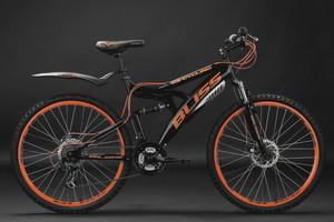"Mountainbike Fully 26"" Bliss schwarz-orange – Bild 7"