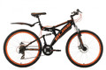 "Mountainbike Fully 26"" Bliss schwarz-orange"