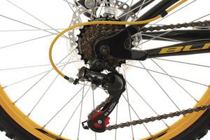 "Mountainbike Fully 24"" Bliss schwarz-gelb – Bild 3"