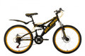 "Mountainbike Fully 24"" Bliss schwarz-gelb"