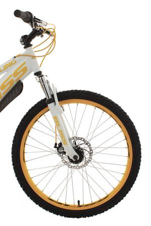 "Mountainbike Fully 24"" Bliss weiss-gelb – Bild 13"