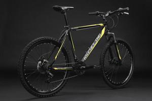 """Mountainbike Hardtail 26"""" Sharp schwarz-gelb – Bild 12"""