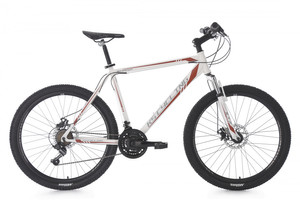 "Mountainbike Hardtail 26"" Sharp weiss-rot – Bild 1"