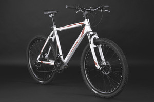 "Mountainbike Hardtail 26"" Sharp weiss-rot – Bild 11"