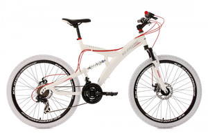 "Mountainbike Fully 26"" Topspin weiss-rot – Bild 1"
