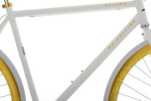"Fixie Fitnessbike 28"" Pegado weiss-gold – Bild 9"