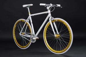 "Fixie Fitnessbike 28"" Pegado weiss-gold – Bild 11"