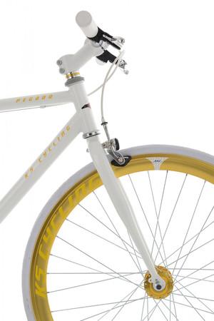 "Fixie Fitnessbike 28"" Pegado weiss-gold – Bild 13"