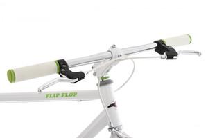 "Fixie Fitnessbike 28"" Flip Flop weiss-grün – Bild 5"