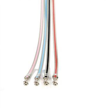 Tre Ponti Leine EASY  110 cm mit reflektierendem Rand hellblau