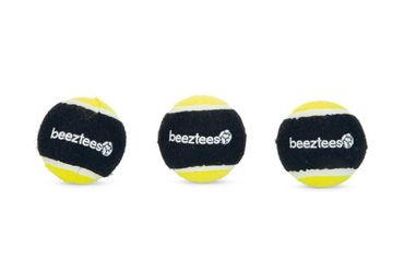 Beeztees Fetch Sponge Ball, 3 Stk, 6,3cm Schwarz/Gelb