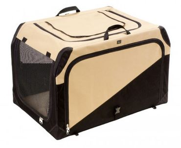 Hunter Hundetransportbox Gr. L beige/schwarz