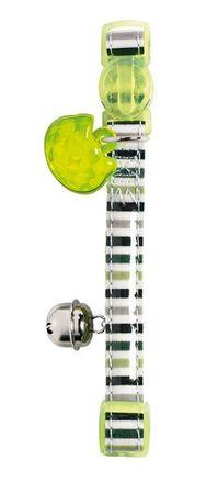 Hunter Katzenhalsband Glossy Stripes mit Glöckchen, grün