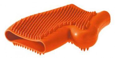 Hunter Hundestriegel  Wellness glove orange, 18 cm