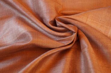 """Indische Dupion-Seide  """"brown"""" 100% Seide handgewebt in ca. 110cm Breite"""