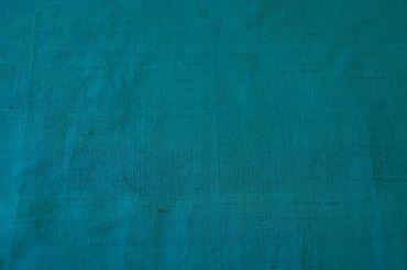 """Indische Dupion-Seide  """"turquoise"""" 100% Seide handgewebt in ca. 110cm Breite – Bild 2"""