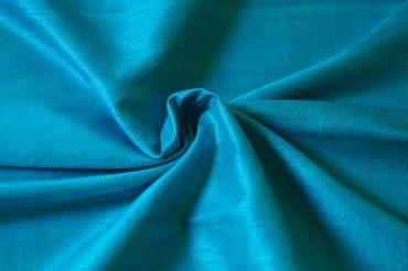 """Indische Dupion-Seide  """"turquoise"""" 100% Seide handgewebt in ca. 110cm Breite – Bild 1"""