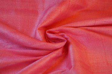 """Indische Dupion-Seide """"medium pink"""", 100% Seide handgewebt in ca. 110cm Breite"""