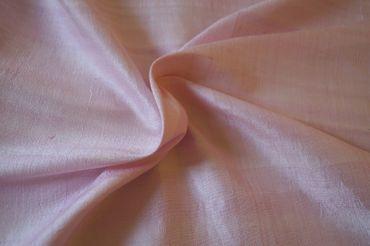 """Indische Dupion-Seide """"light pink"""", 100% Seide handgewebt in ca. 110cm Breite – Bild 1"""