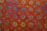 "Handgefärbte Batik aus Indonesien ""Flowers"" COL E, 100% Baumwolle 001"