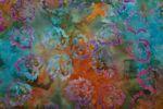 "Handgefärbte Batik aus Indonesien ""Birch Leaves"" COL D, 100% Baumwolle 001"